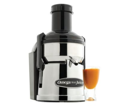Omega BMJ390 Mega Mouth Pulp Ejection Juicer, Surgical Stainless Bowl, Chrome