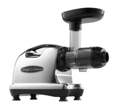 Omega J8006 Low Speed Masticating Juice Extractor w/ Heavy Duty Auger, Chrome