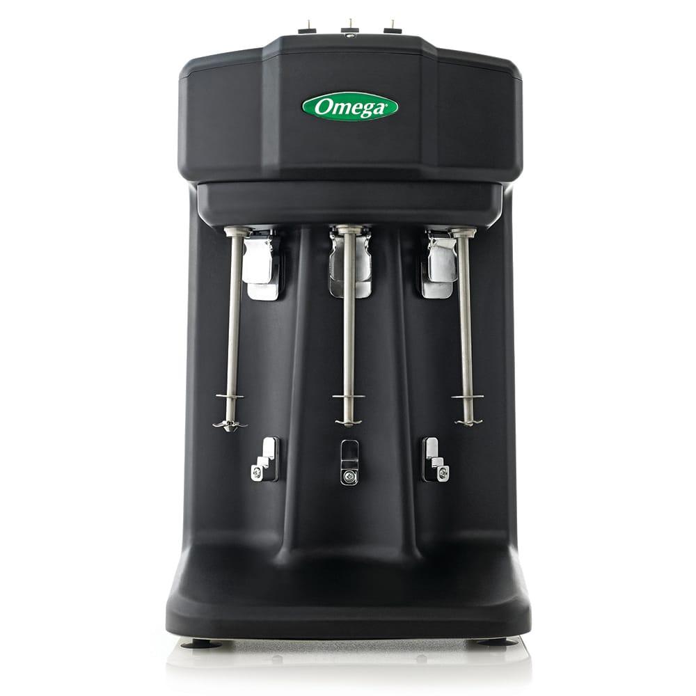 Omega M3000 Triple-Spindle Milkshake Mixer w/ 28 oz Blending Cup, 120v
