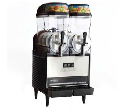Omega OFS20 Granita Slush Machine w/ (2) 3-Gallon Bowls, 710 Watts, Stainless