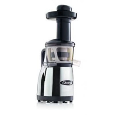 Omega VRT380HDC Vertical Masticating Juicer - Low-Speed, Stainless/Chrome