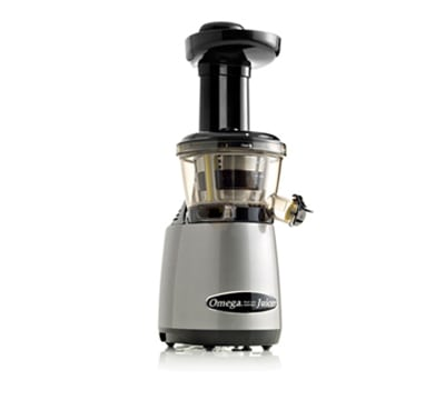 Omega VRT400HDS Vertical Masticating Juicer - Low-Speed, Stainless/Silver/Black