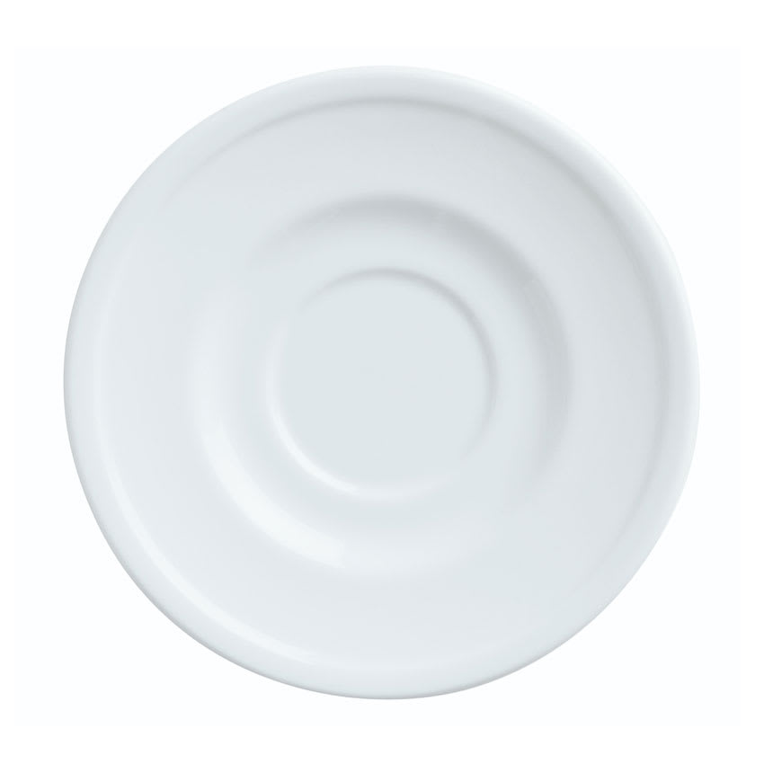 "World Tableware 1502-10155 6 1/8"" Empire Round Saucer - Porcelain, Bright White"