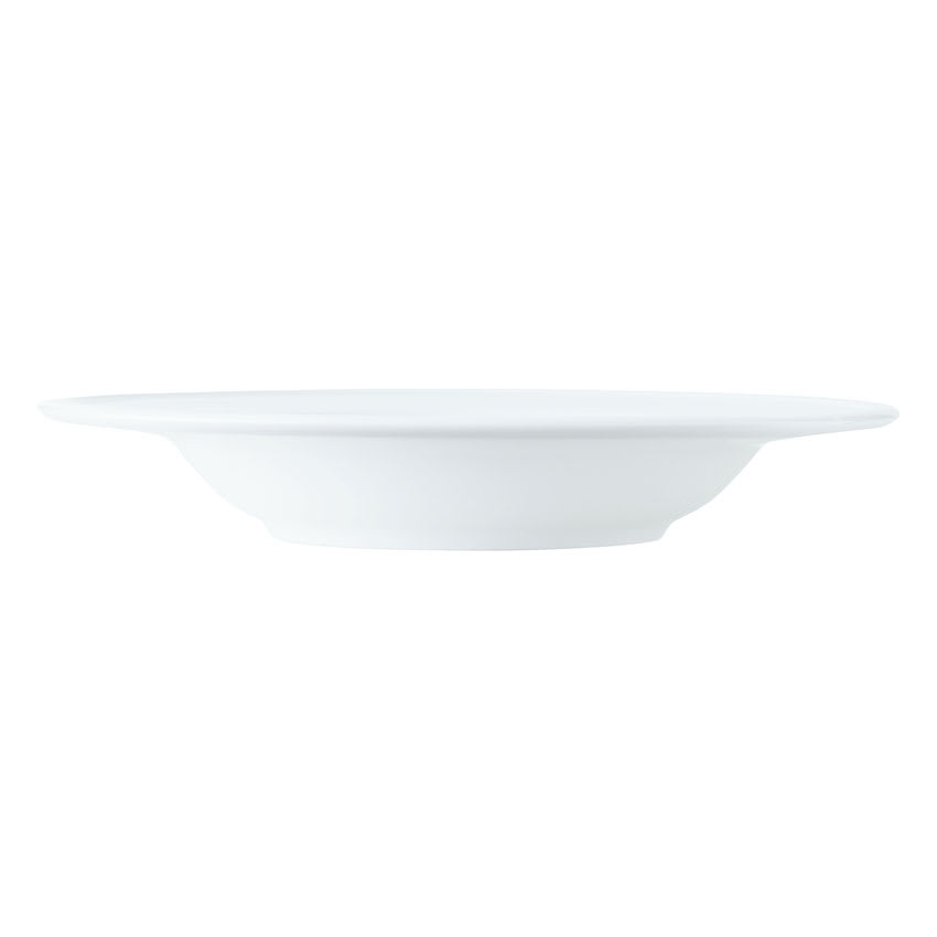 World Tableware 1502-10230 11 1/2 oz Empire Rimmed Soup Bowl - Porcelain, Bright White