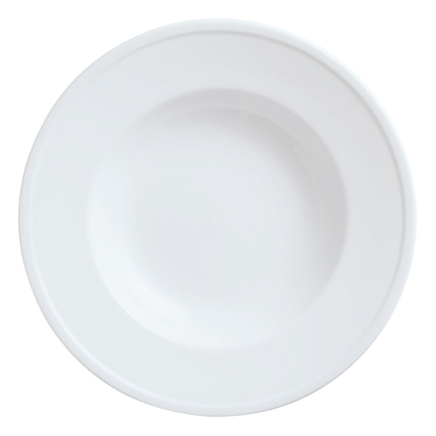 World Tableware 1502-10310 22 1/2 oz Empire Rimmed Pasta Bowl - Porcelain, Bright White