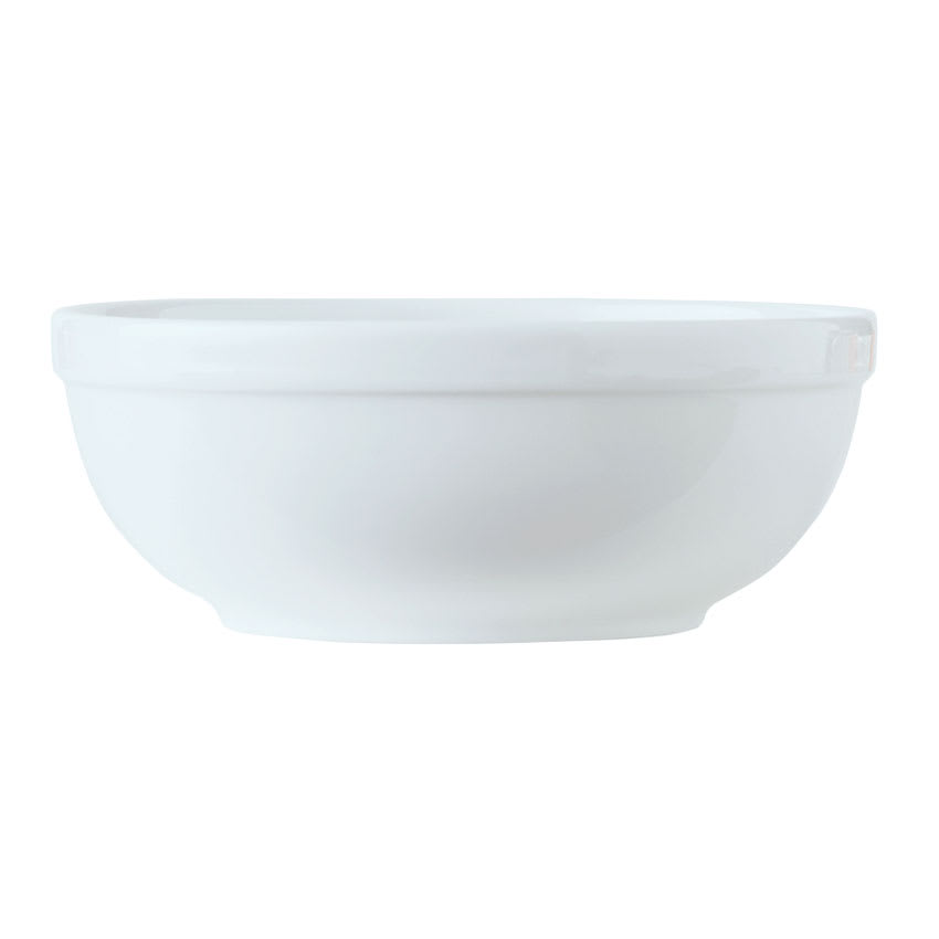 World Tableware 1502-20145 19 1/2 oz Empire Oatmeal Bowl - Porcelain, Bright White