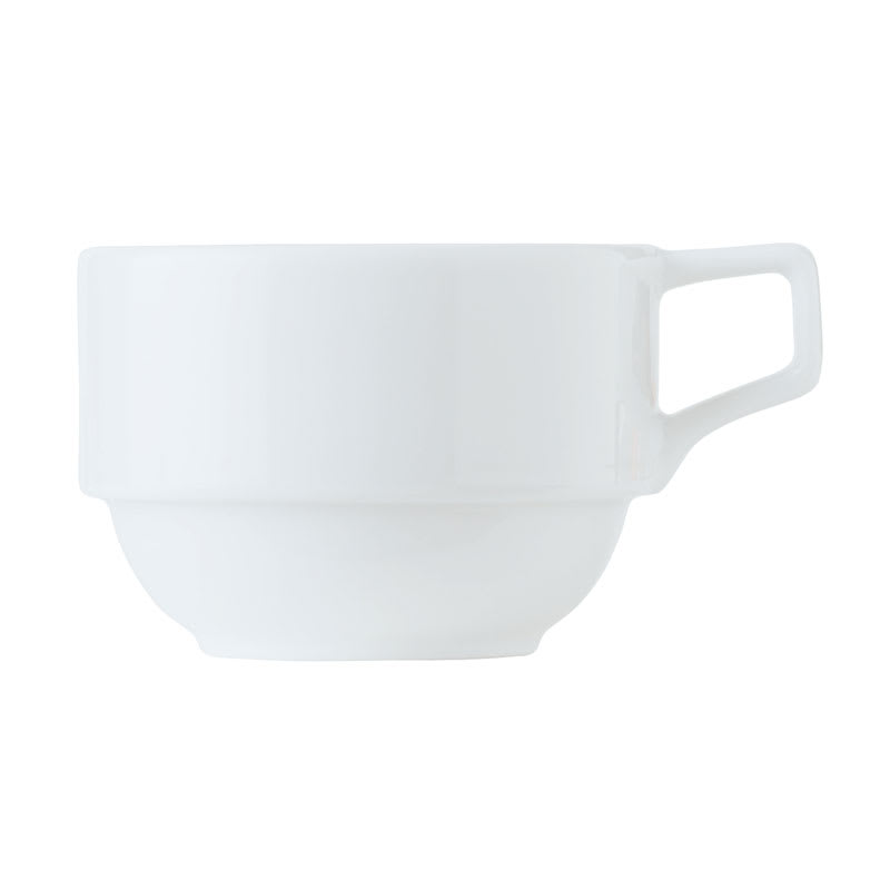 World Tableware 1502-30220 8-1/4-oz Empire Stackable Cup - Porcelain, Bright White