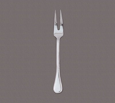 "World Tableware 592 014 10-1/2"" Louvre Meat Fork - Silverplated"