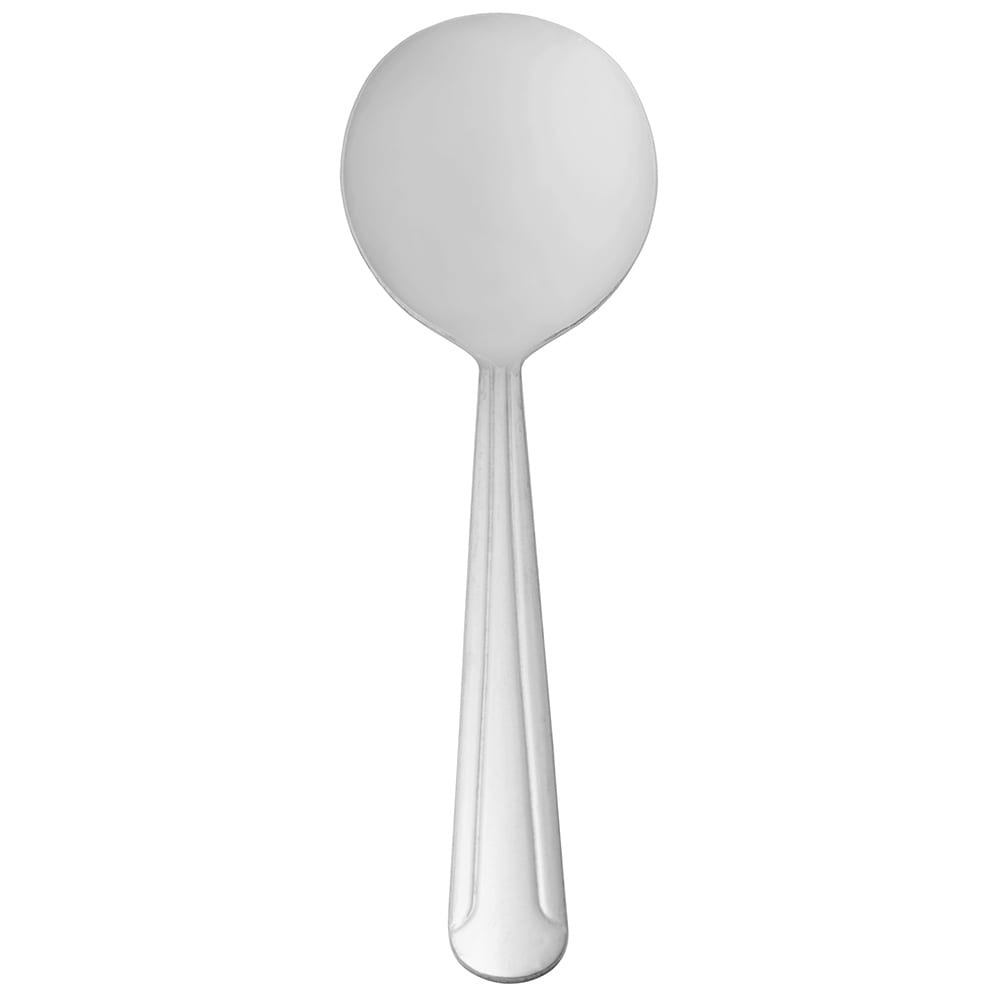 World Tableware 657 016 Bouillon Spoon, 18/0 Stainless, Medium Weight, Dominion Brandware Collection