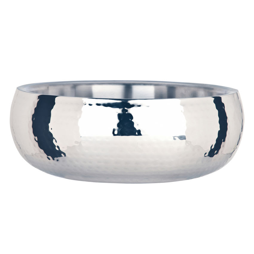 World Tableware 6707 52 oz Round Bowl w/ Bowed Sides, Stainless Steel