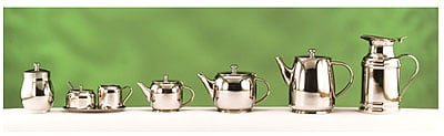 World Tableware 73058 34 oz Belle II Teapot - 18/8 Stainless
