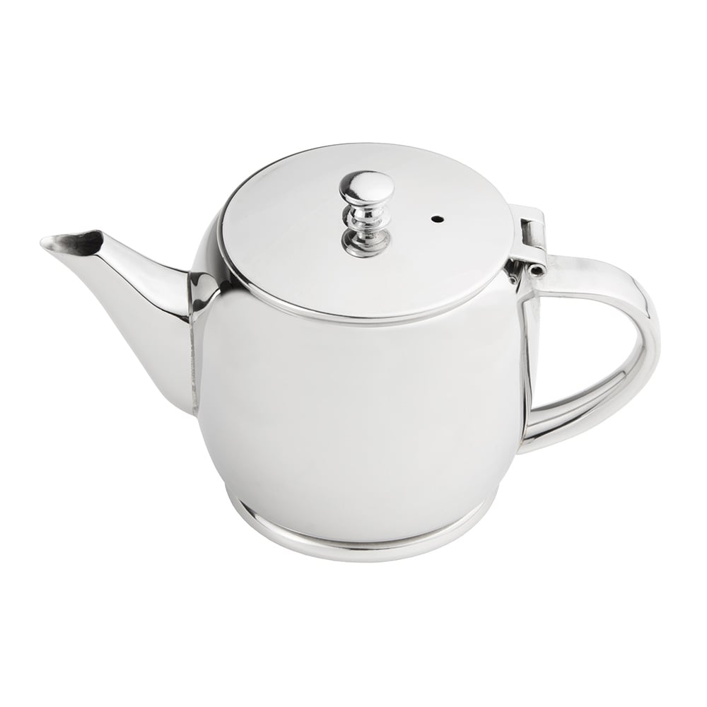 World Tableware 73060 8-oz Belle II Teapot - 18/8 Stainless