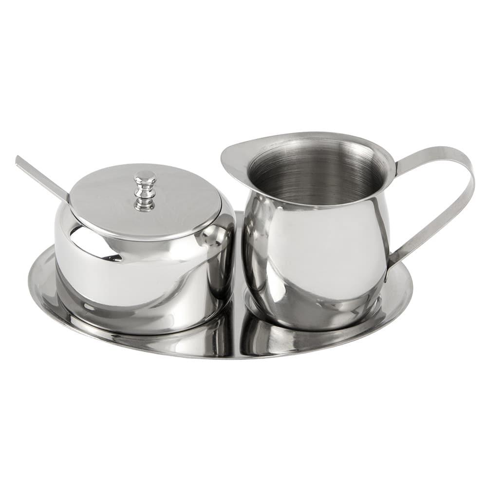 World Tableware 73317 Belle II Creamer/Sugar Tray Set - 18/8 Stainless