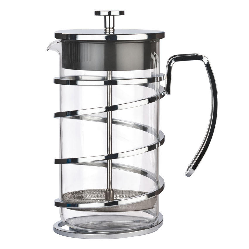 World Tableware 73592 34 oz French Press - 4-cup, Stainless Steel Frame, Glass