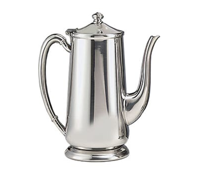 World Tableware 7401 64-oz Traditional Gooseneck Coffee Server with Base - 18/8 Stainless