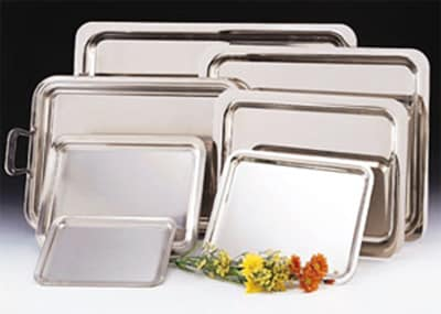 "World Tableware 7421 Oblong Tray - 16x11-1/2"" 18/8 Stainless"