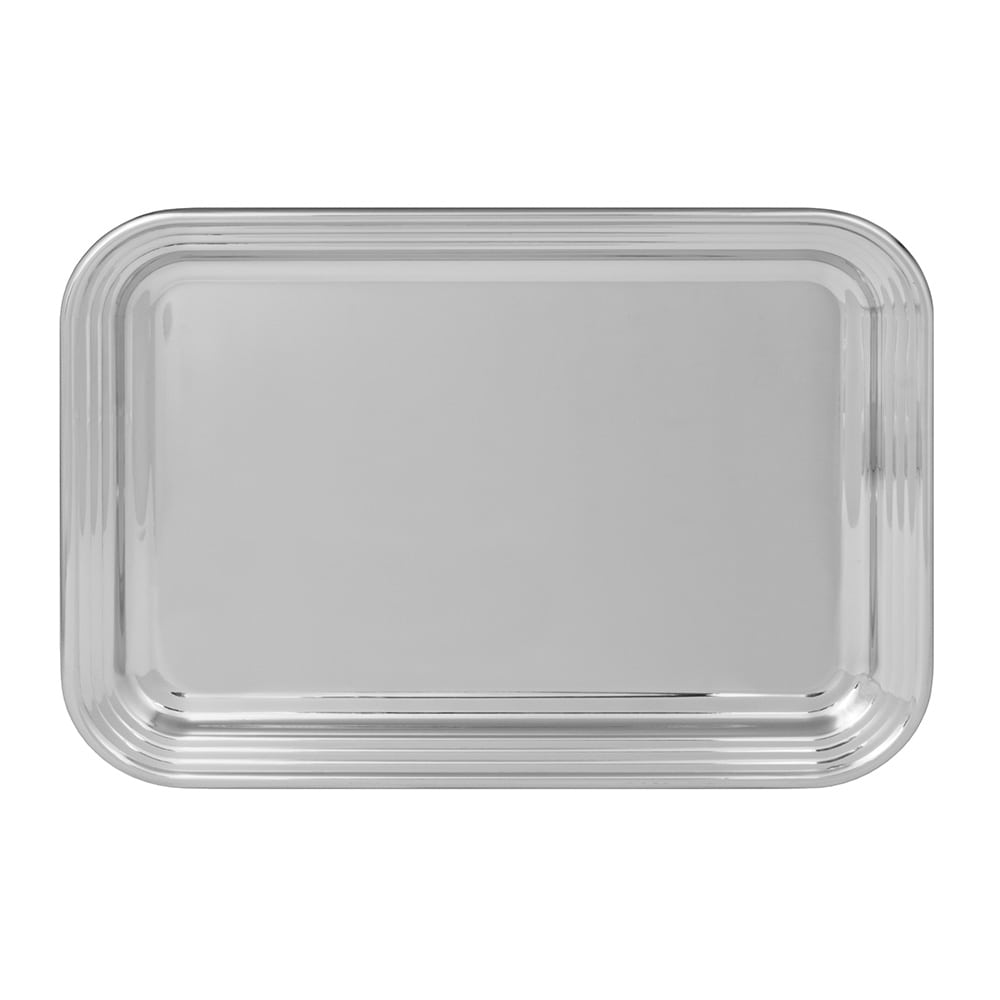 World Tableware 763906 Oblong Tray, 18/8 Stainless, 19.75x14.75""