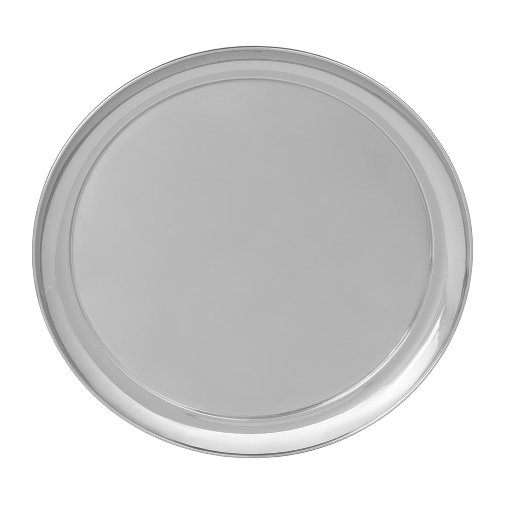 """World Tableware 764103 16"""" Round Tray w/ Rolled Edge, 18/8 Stainless"""