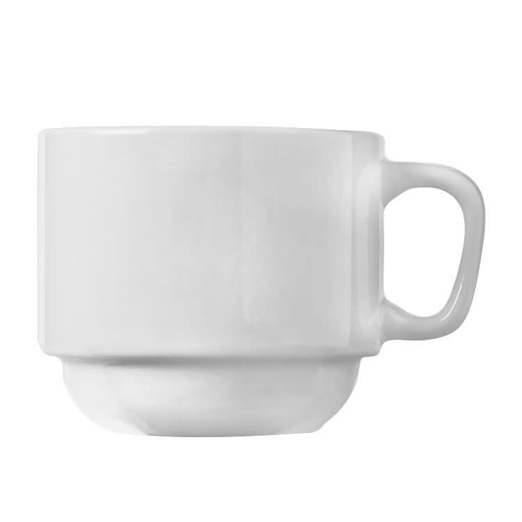 World Tableware 840-116-101 7-oz Cup - Stackable, Rolled Edge, Bright White, Porcelana