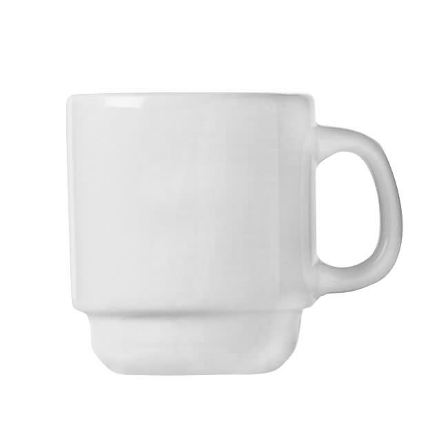 World Tableware 840-150-007 2.5 oz Espresso Cup - Short, Rolled Edge, Porcelain, Bright White, Porcelana