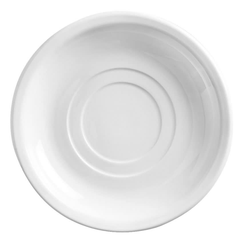"""World Tableware 840-205-006 6"""" Porcelain Double Well Saucer, Bright White, Porcelana"""