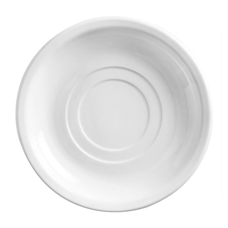 "World Tableware 840-215-005 5.5"" Saucer - Double Well, Narrow Rim, Porcelain, Bright White, Porcelana"