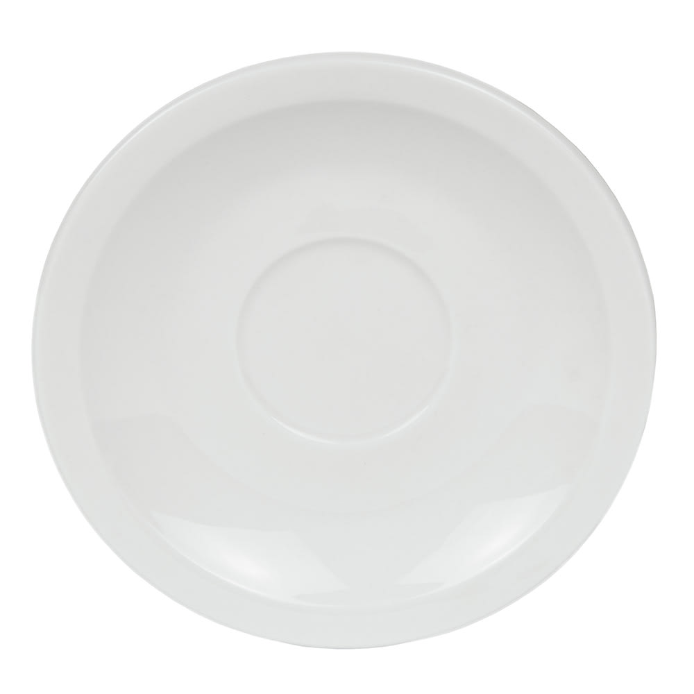 "World Tableware 840-245-107 4.75"" Demitasse Saucer - Narrow Rim, Porcelain, Bright White, Porcelana"
