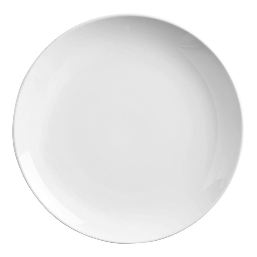 "World Tableware 840-404C 4"" Round Porcelain Micro Plate, Coupe, Porcelana"