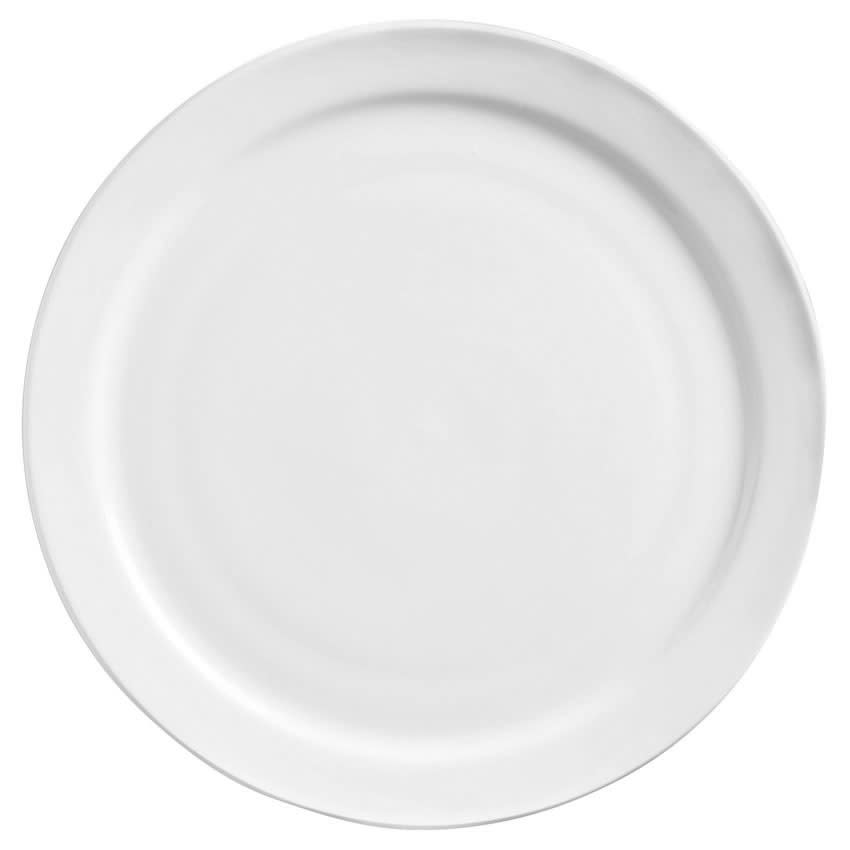 "World Tableware 840-405N-10 5.5"" Porcelain Plate w/ Narrow Rim, Bright White, Porcelana"