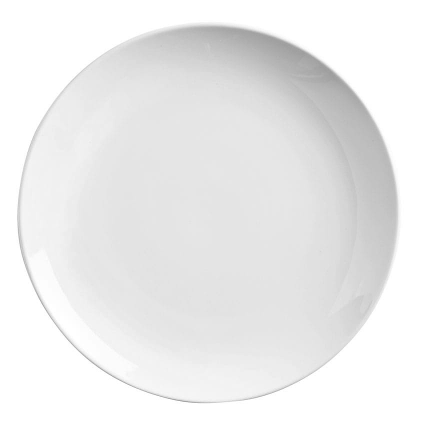 "World Tableware 840-410C 6.5"" Round Porcelain Plate, Coupe, Bright White, Porcelana"
