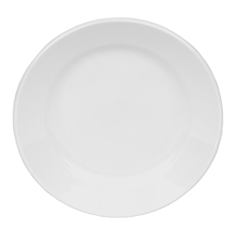 "World Tableware 840-410R-23 6.25"" Plate - Wide Rim, Rolled Edge, Bright White, Porcelana"