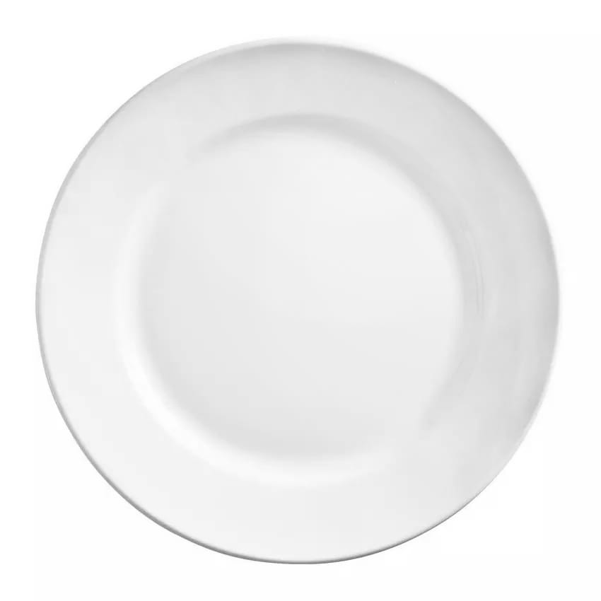 "World Tableware 840-420R-24 7.13"" Plate - Wide Rim, Rolled Edge, Porcelain, Bright White, Porcelana"