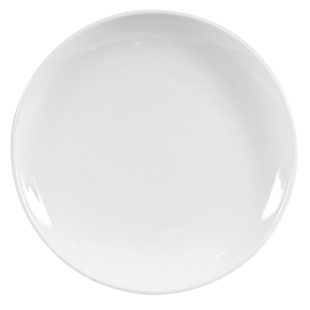 """World Tableware 840-423C 8.25"""" Round Porcelain Plate, Coupe, Bright White, Porcelana"""