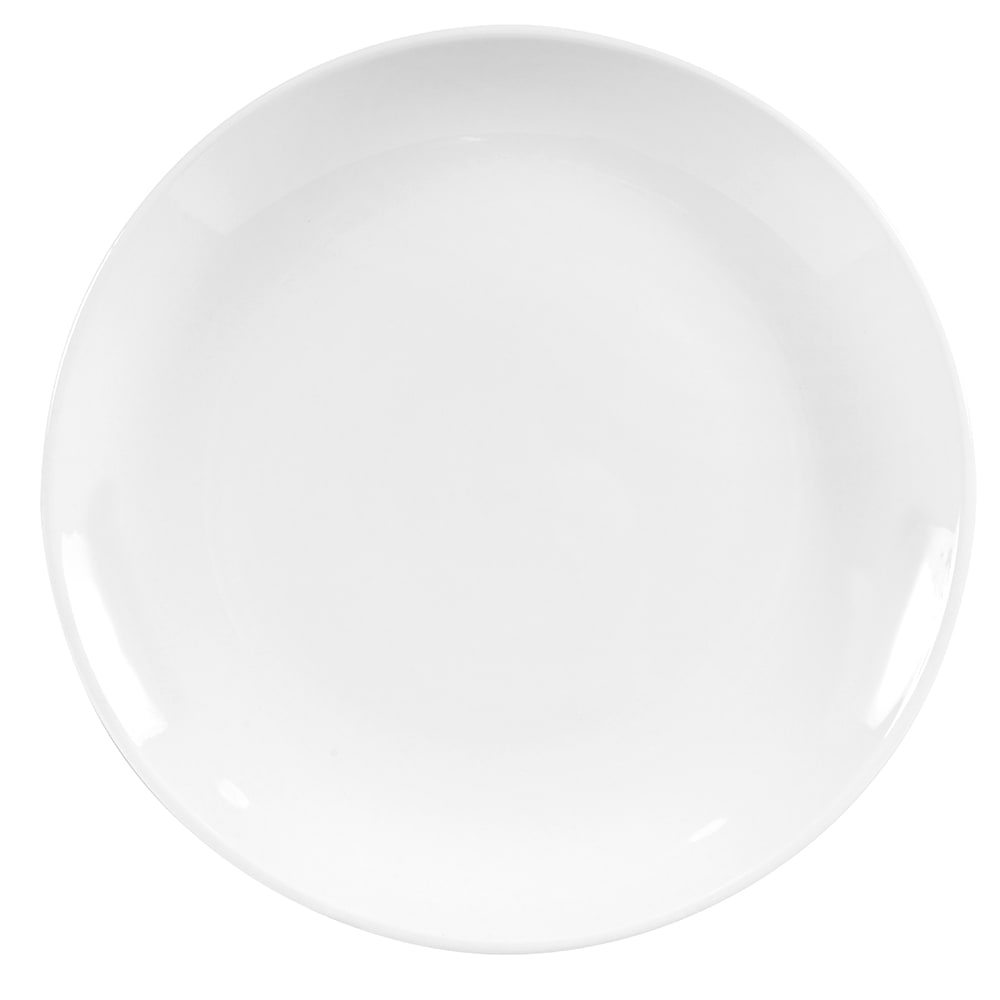 "World Tableware 840-425C 9"" Round Porcelain Plate, Coupe, Bright White, Porcelana"