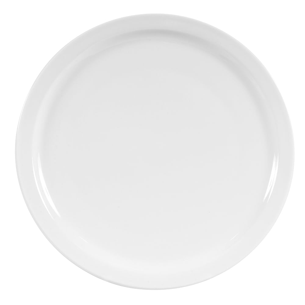 "World Tableware 840-430N-14 9.5"" Porcelain Plate w/ Narrow Rim, Bright White, Porcelana"