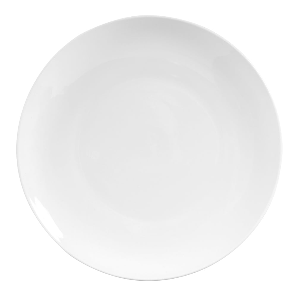 """World Tableware 840-440C 11.25"""" Round Porcelain Plate, Coupe, Bright White, Porcelana"""