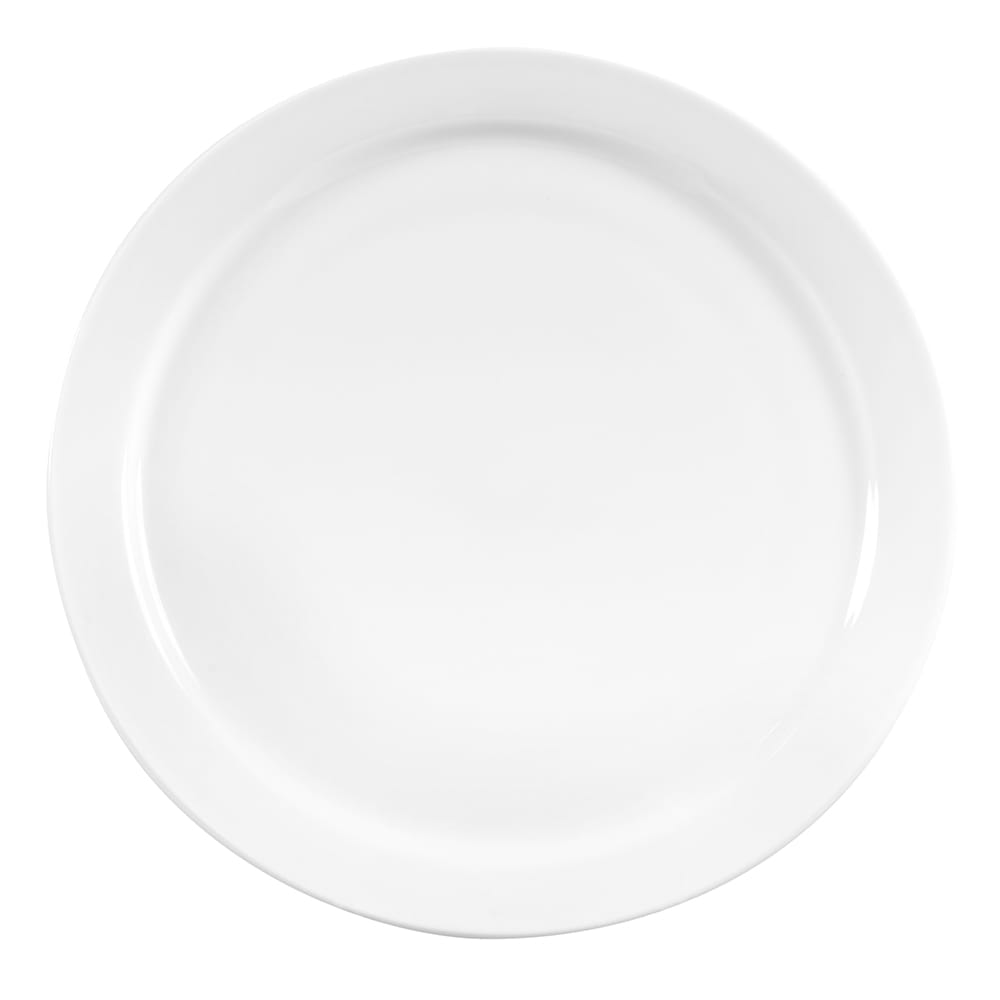 "World Tableware 840-440N-15 10.38"" Plate - Narrow Rim, Porcelain, Bright White, Porcelana"