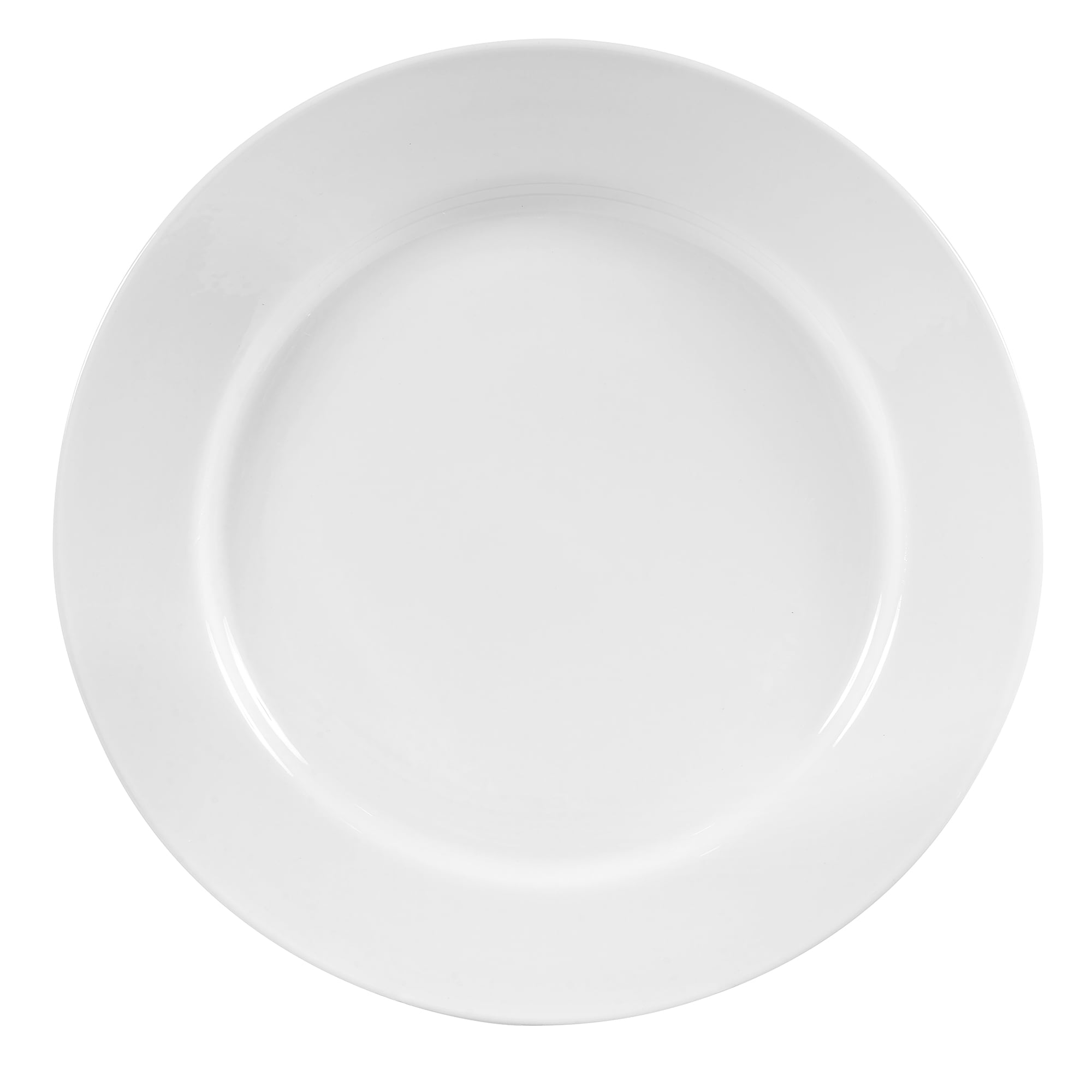 "World Tableware 840-440R-11 11"" Plate - Wide Rim, Rolled Edge, Porcelain, Bright White, Porcelana"
