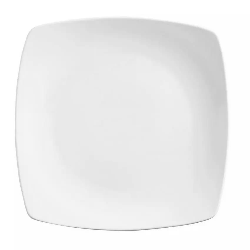 "World Tableware 840-460S 7.25"" Square Plate - Porcelain, Bright White, Porcelana"