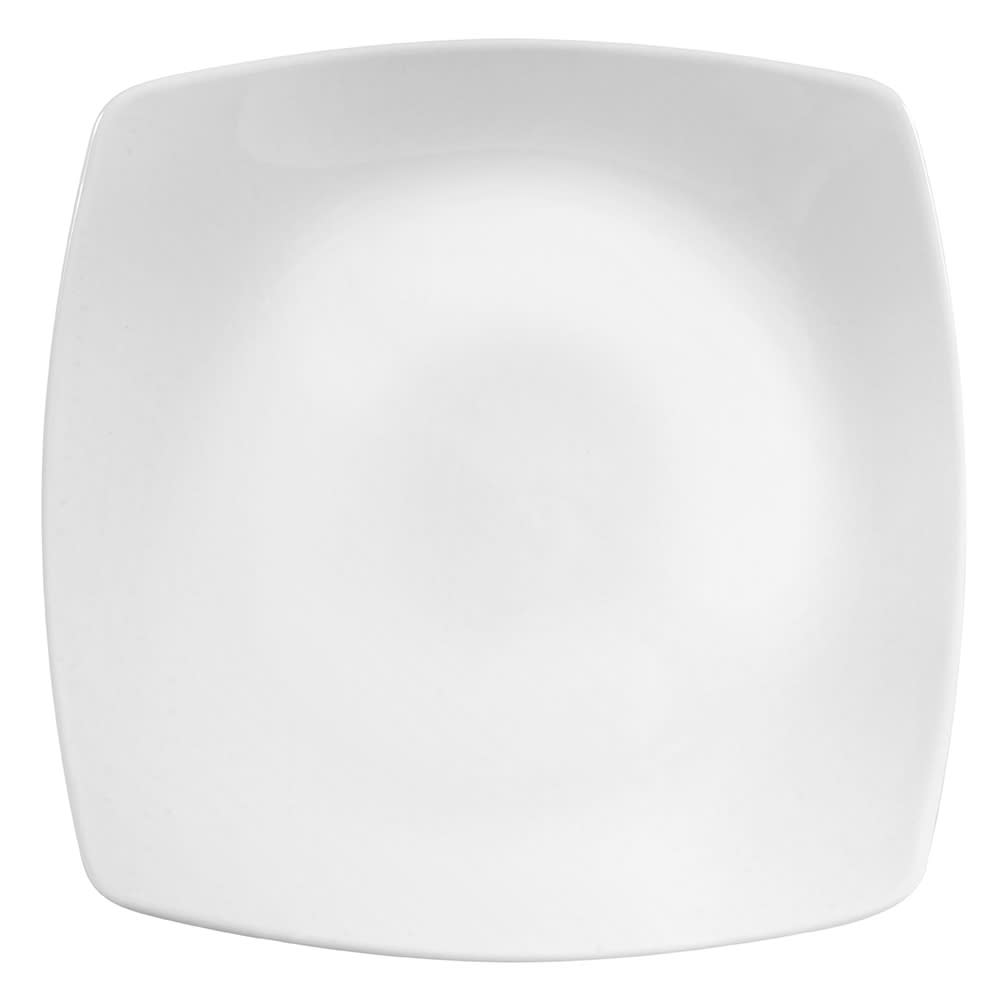 "World Tableware 840-463S 8"" Square Porcelain Plate, Coupe, Bright White, Porcelana"