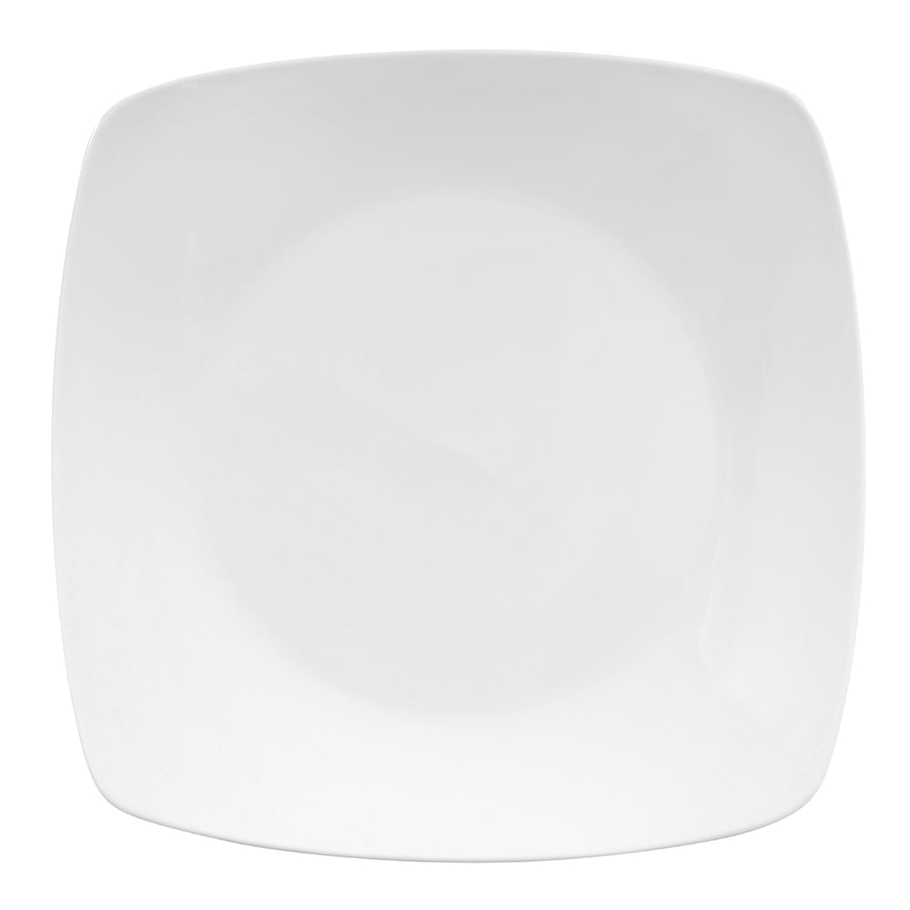 "World Tableware 840-468S 10.25"" Square Porcelain Plate, Coupe, Bright White, Porcelana"