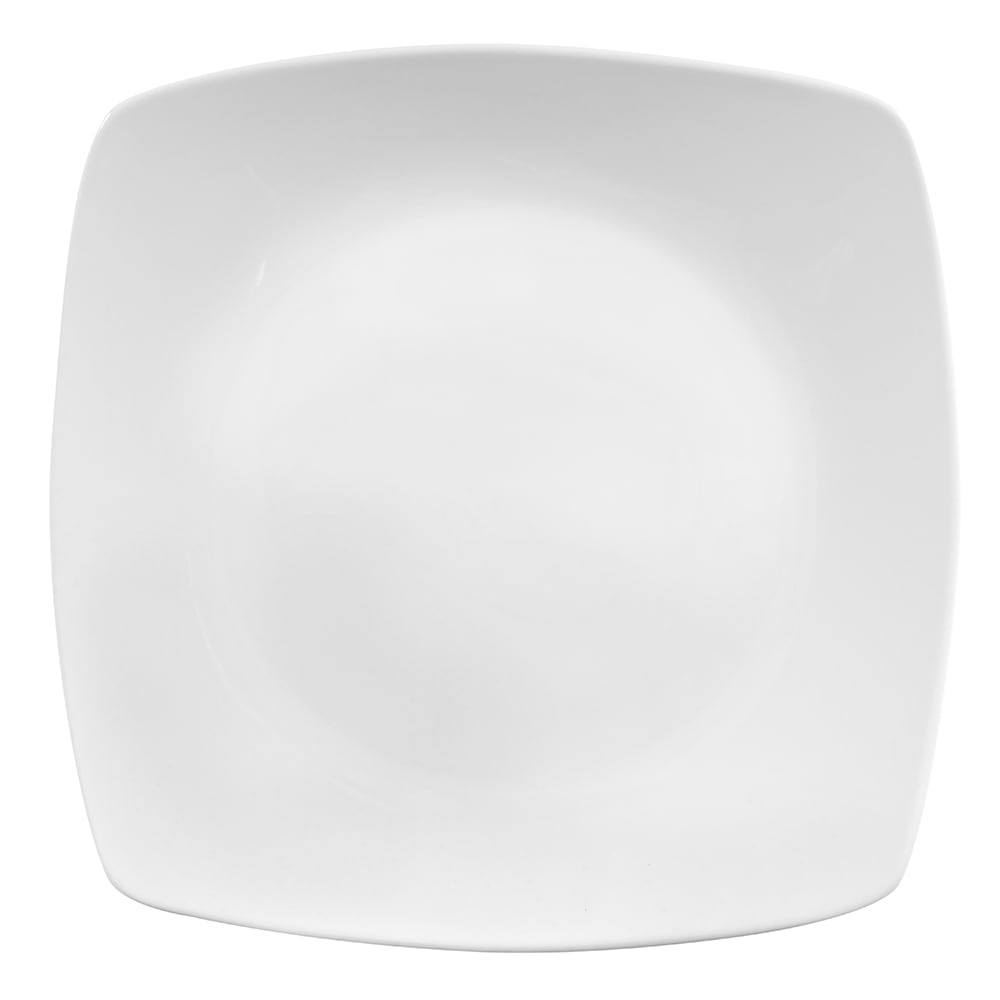 "World Tableware 840-470S 11"" Square Porcelain Plate, Coupe, Bright White, Porcelana"
