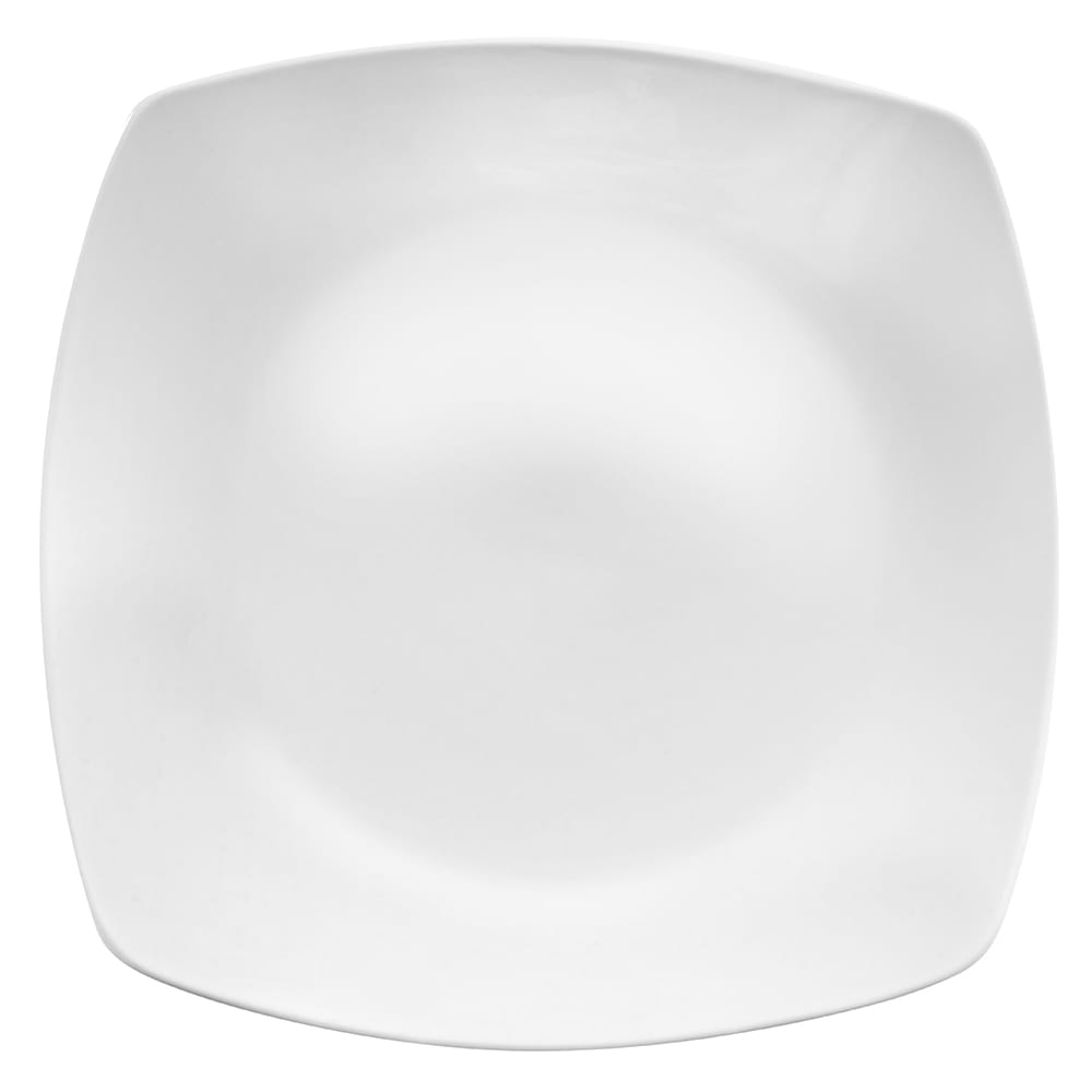 "World Tableware 840-475S 12"" Square Porcelain Plate, Coupe, Bright White, Porcelana"