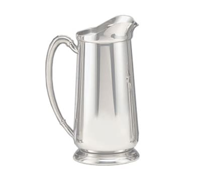 World Tableware 8417 64-oz Traditional Water Pitcher - Ice Guard, Silverplated