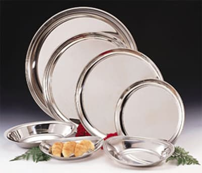 """World Tableware 864105 12"""" Round Tray - Silverplated"""