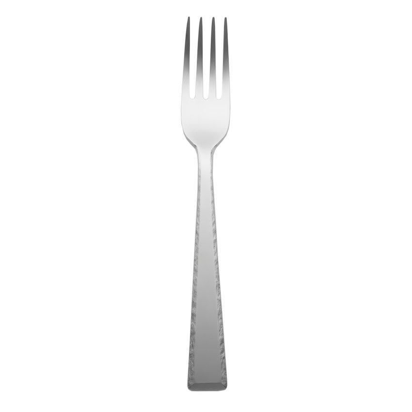"World Tableware 926 027 8.25"" Conde Dinner Fork - Hammered Handle, 4.5 ga Stainless"