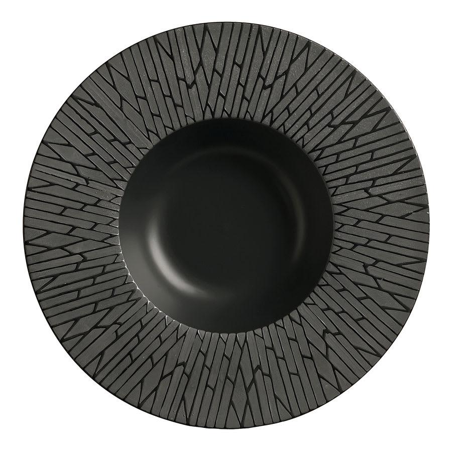 "World Tableware BB-60 13 1/2 oz,11"" Bamboo Black Bowl"
