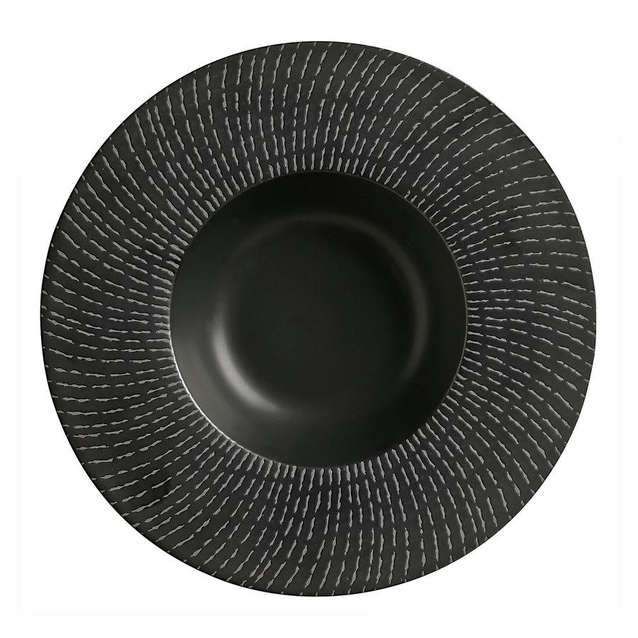 "World Tableware BB-62 13 1/2 oz, 11"" Black Dotted Line Bowl"