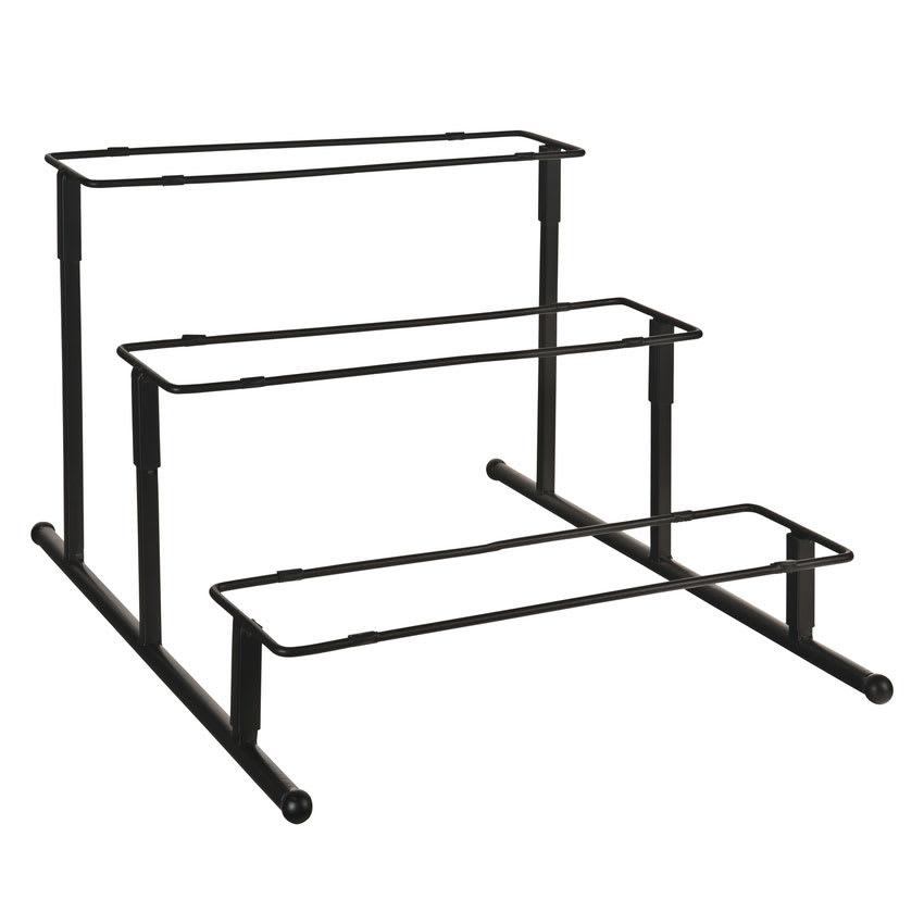 "World Tableware BF-15 13"" Rectangular 3-Tier Banquet Frame - Black"