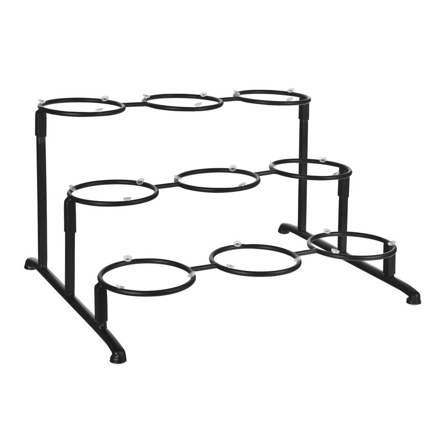"World Tableware BF-26 12"" Round 3-Tier Banquet Frame - Black"